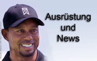 Tiger Woods Ausrüstung Golf Bag PGA 2017 Golfschläger
