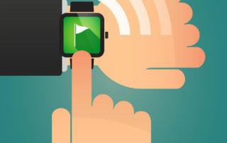 Golfuhr mit GPS Entfernungsmesser